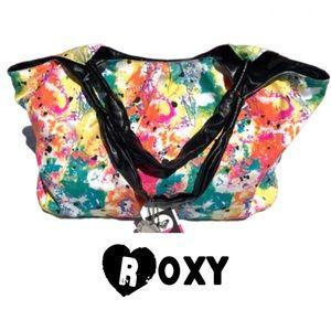 Roxy splattered paint tote bag-mid-large